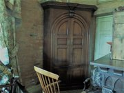 Rare E18THC  oak barrel backed corner cupboard