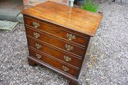 Small Antique mahogany chest 27""