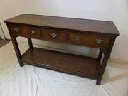 "Tiny 18thc oak potboard dresser base 51""long"