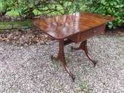 18thc Small mahogany sofa table c1800