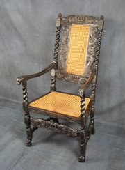 Charles II Walnut Armchair