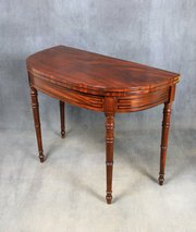 George III Mahogany Games Table