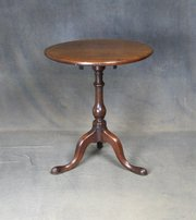 Georgian Mahogany Tilt Top Occasional Table