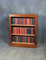 Late Victorian Walnut Open Bookcase