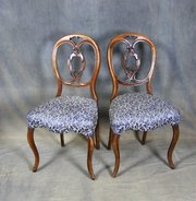Pair of Victorian Mahogany Bedroom Chairs