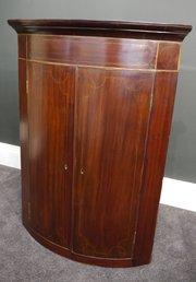 Regency Mahogany Corner Cupboard