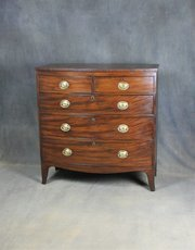 Regency Mahogany Bow Front Chest of Drawers