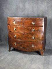 Regency Mahogany Bow Fronted Chest of Drawers