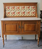 Edwardian Satin Walnut Washstand