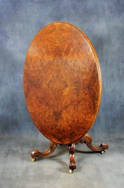 Victorian Burr Walnut Loo Table