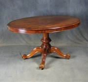 Victorian Mahogany Oval Breakfast / Dining Table