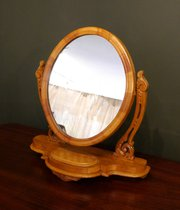 Victorian Satinwood Toilet Mirror