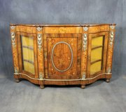 Victorian Walnut and Marquetry Credenza