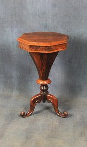 Victorian rosewood sewing table