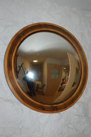 art deco pine mirror  c 1920 a