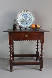 17th Century Oak Side Table. U339