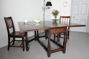 18th Century Country Oak Dropleaf Dining Table T23
