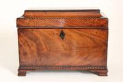 18th Century Mahogany Tea Caddy