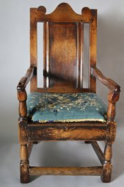18th Century Oak Country Wainscot Armchair. V88