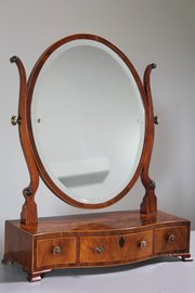 18th Century Serpentine Front Box Mirror.