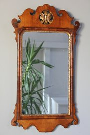 18th Century Walnut Wall Mirror.