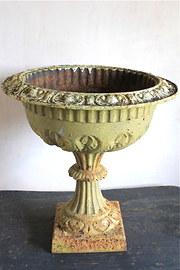 19th Century Cast Iron Garden Urn