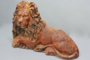 19th Century Cast Iron Lion. V116