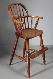 19th Century Child's High Windsor Chair. U271
