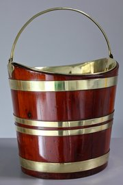 Antique Mahogany Dutch Tea Bucket. T951