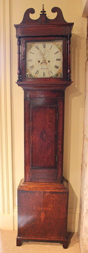 19th Century Oak Longcase Clock.