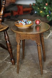 19th Century Oval Topped Stool V430