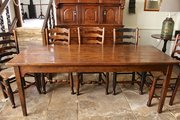 19th Century Pine Farmhouse Table.
