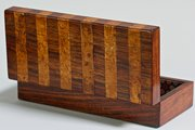 19th Century Rosewood and Maple Box. T670