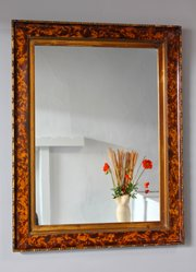 19th Century Simulated Tortoiseshell Wall Mirror.