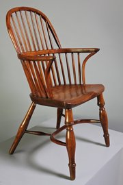 19th Century Stick Back Windsor Armchair.