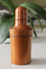 19th Century Treen Bottle Holder with Bottle V225