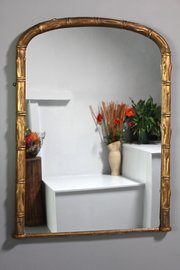 Antique Faux Bamboo Gilt Wall Mirror. T957