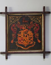 Antique Framed Armorial Coat of Arms. U52