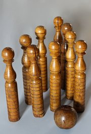 Antique Game of Skittles Ninepins. U822