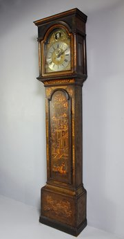 Antique Lacquer Longcase Clock. U151
