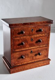 Antique Miniature Mahogany Chest of Drawers V133