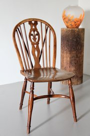 Antique 19th Century Yew Wood Windsor Chair U268