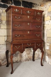 Early 18th Century Oak Chest on Stand
