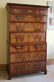 Early 18th Century Walnut Chest on Chest.