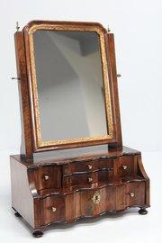 Early 18th Century Walnut Toilet Box Mirror V378