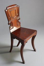 Early 19th Century Mahogany Hall Chair.