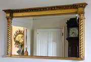Early 19th  Gilt Landscape Overmantel Mirror. U825