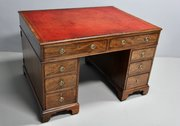 Georgian Mahogany Partners Desk