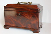 Georgian Mahogany Tea Caddy.   RefR254