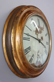 Gilded Wall Mounted 8-Day Dial Clock